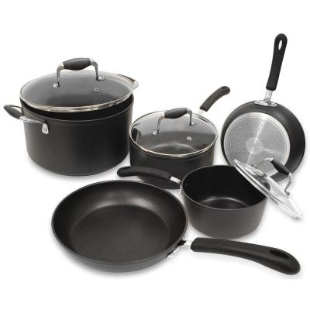Symphony 8-Piece Slate Cookware Set with Lids