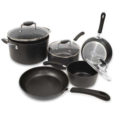 Symphony 8-Piece Slate Cookware Set with Lids
