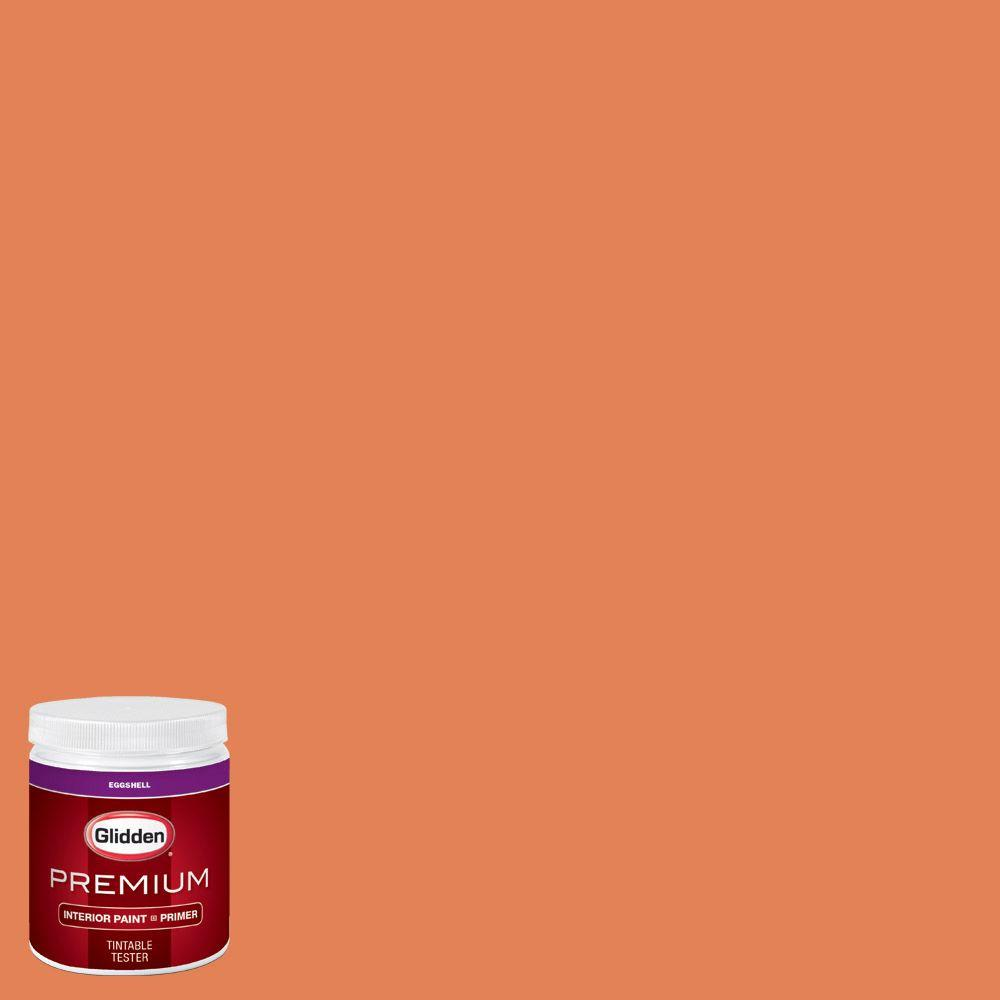 Glidden premium 8 oz hdgo14u orange chinese lantern for Orange paint samples