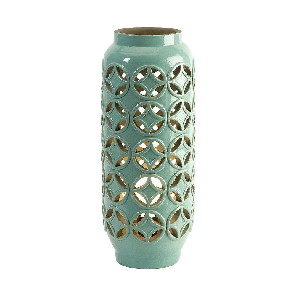Home Decorators Collection Creighton 17.5 in. Mint Cutwork Lamp