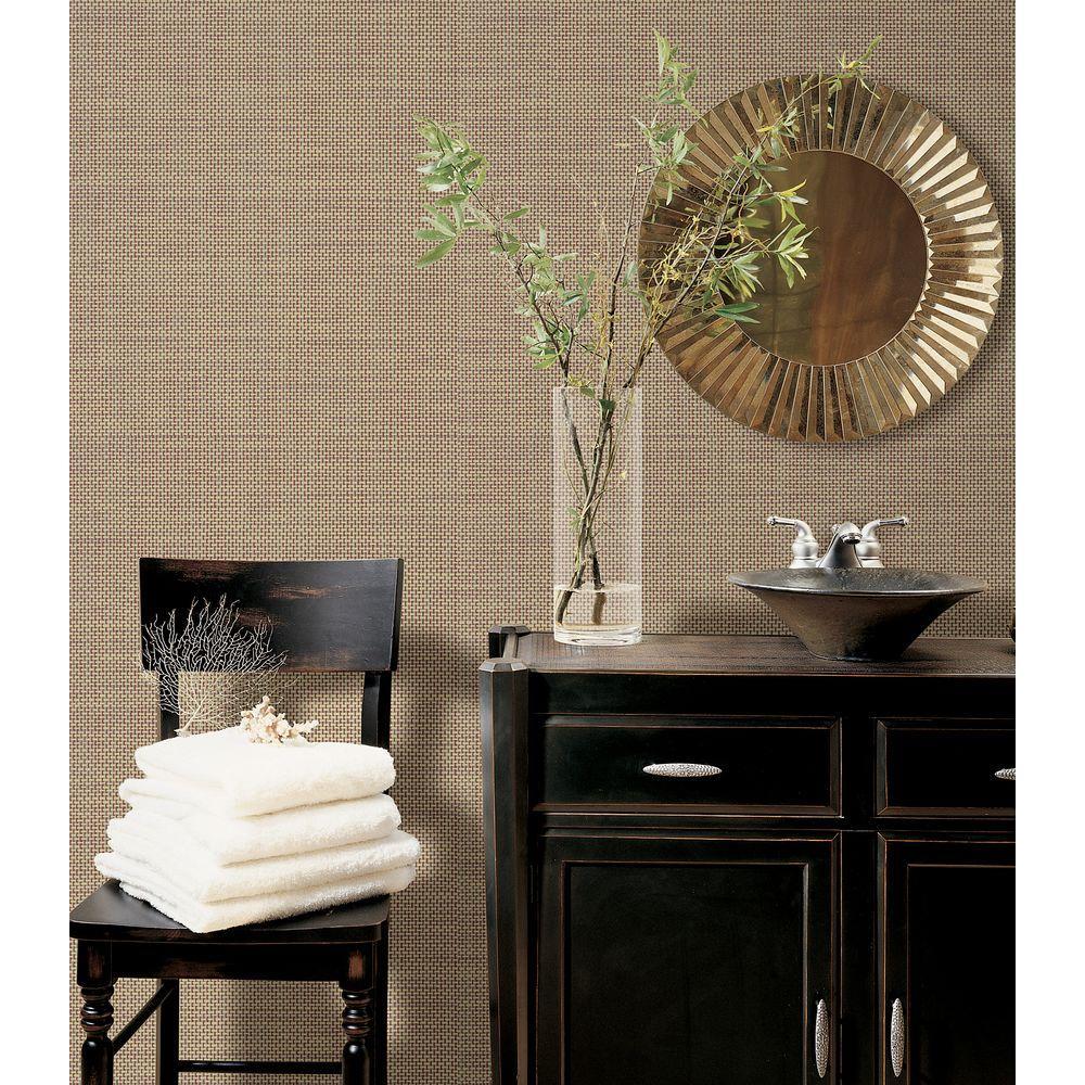 Brewster Isaac Brick Woven Texture Wallpaper
