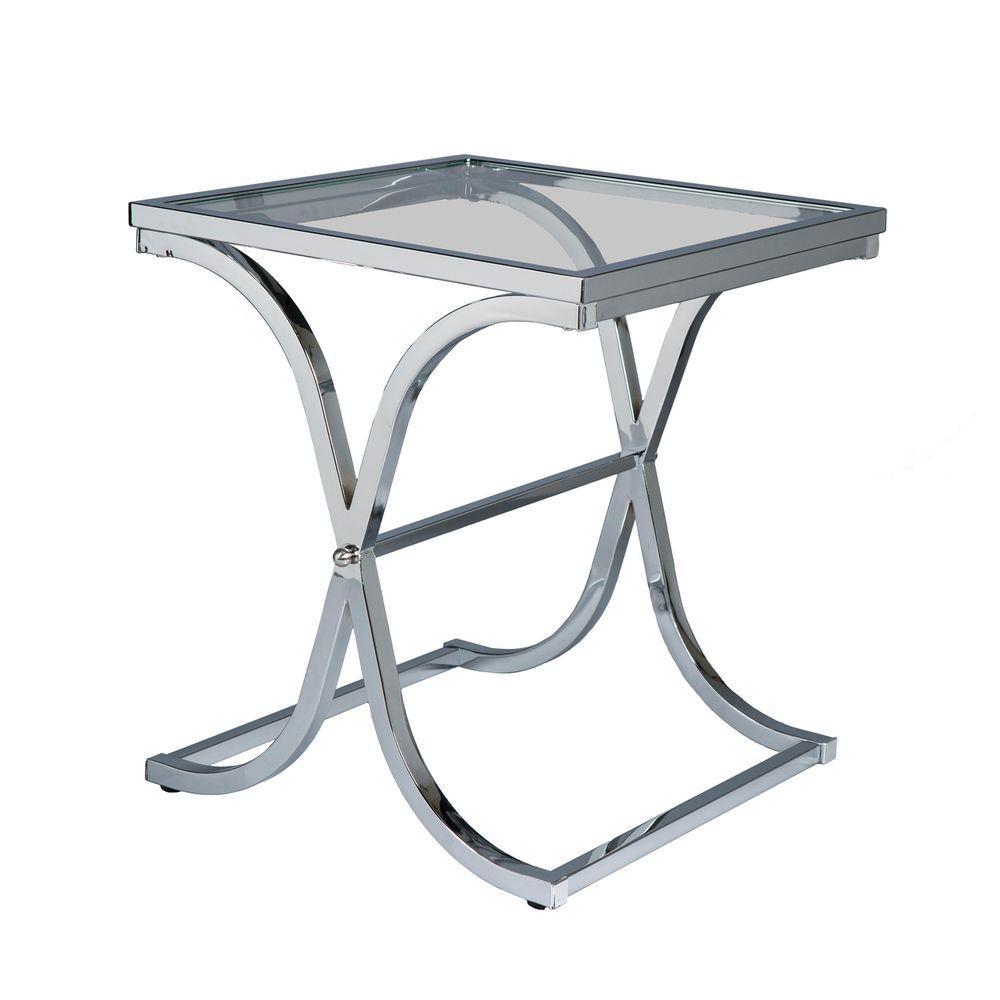 Vogue Chrome Contoured End Table