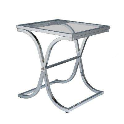 Vogue Chrome Contoured End Table