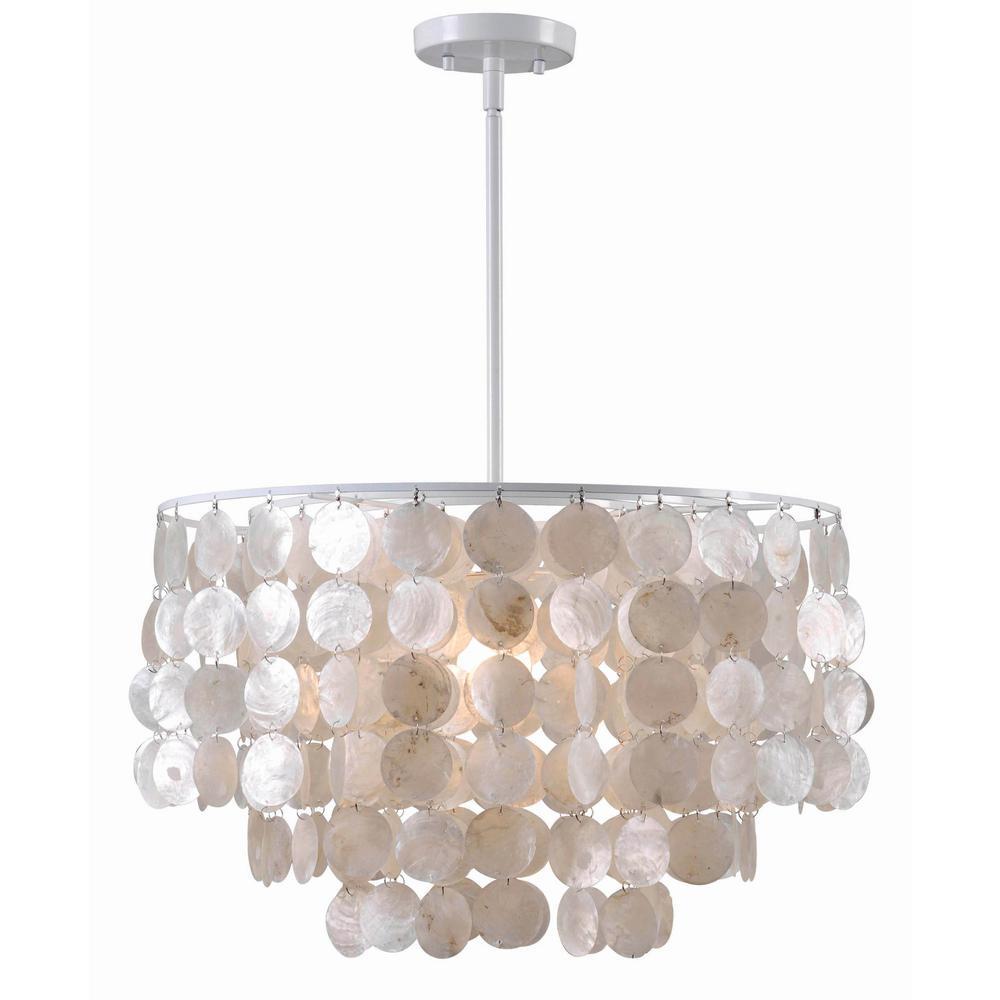 Capiz pendant lights lighting the home depot shelley 1 light white pendant mozeypictures Gallery