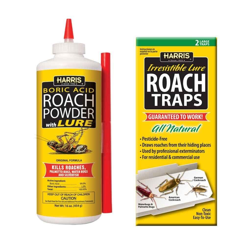Harris 16 oz Roach Powder and Roach Trap Value PackHRP16VP The
