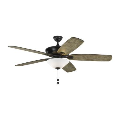 Colony Super Max Plus 60 in. Indoor/Outdoor Pewter Ceiling Fan with Light Kit