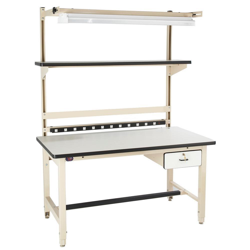 60 in. x 30 in. Beige Laminate Heavy-Duty Work Bench (Bench in a Box)