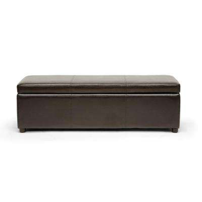 Dennehy Dark Brown Storage Bench