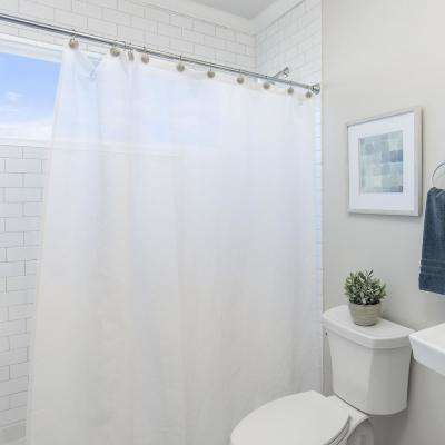 Peva 72 in. x 72 in. Frosty Shower Curtain Liner