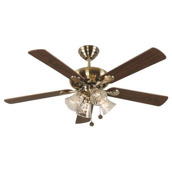 Hampton Bay Portsea 52 in. Antique Brass Ceiling Fan