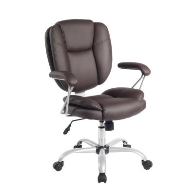 Brown Plush Task Office Chair with Techniflex Upholstery