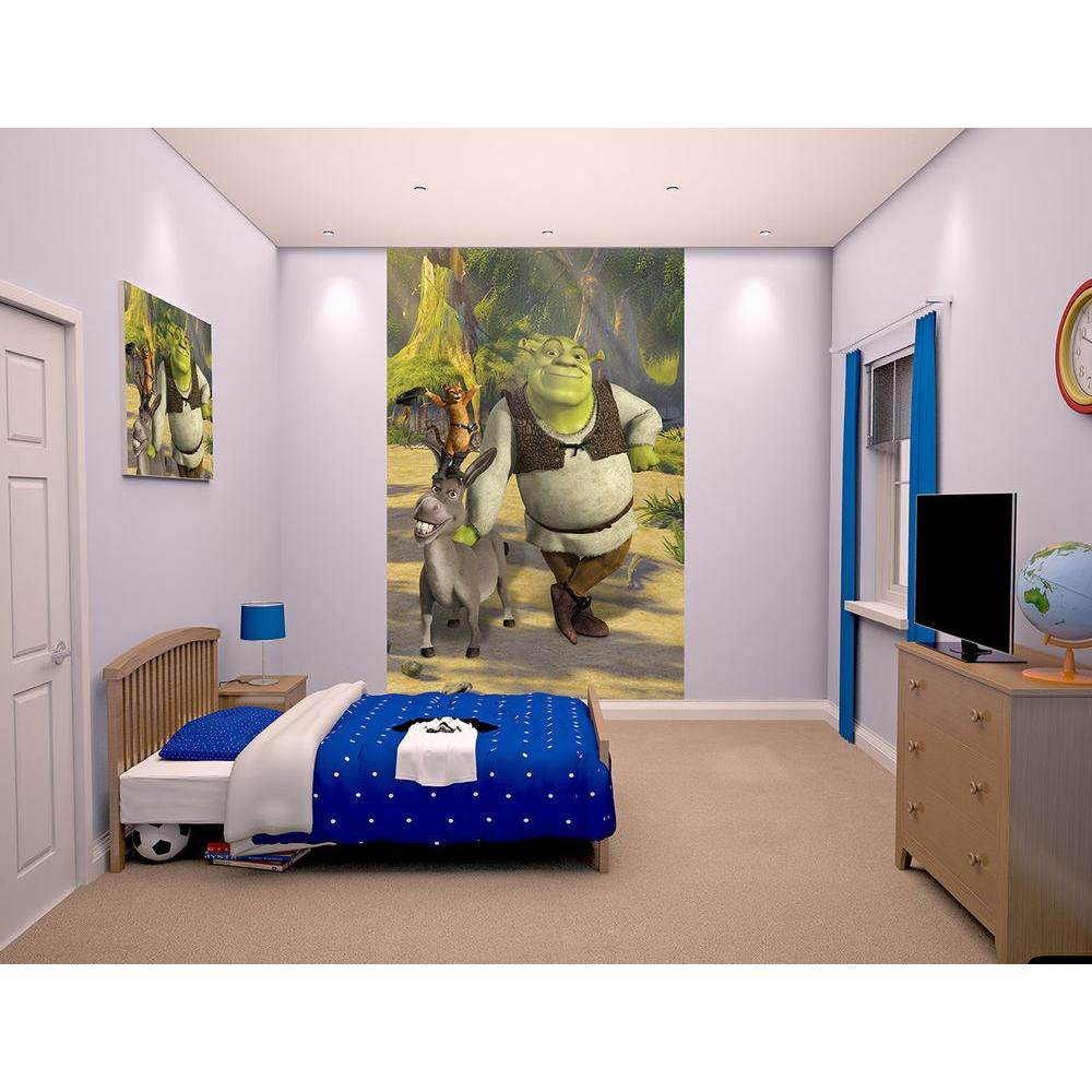 Walltastic 60 in. H x 96 in. W Shrek Wall Mural WT43084 - The Home Depot