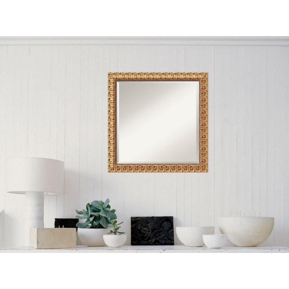 Florentine Gold Wood 24 in. W x 24 in. H Traditional