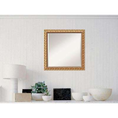Florentine Gold Wood 24 in. W x 24 in. H Traditional Framed Mirror