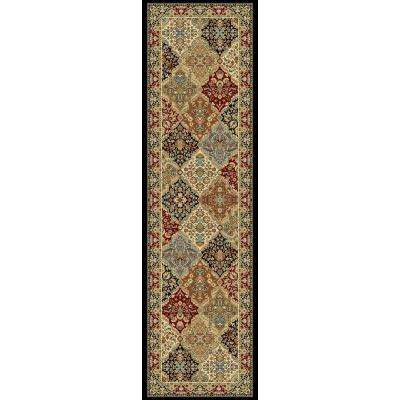 Ancient Garden Multi Panel 2 ft. x 11 ft. Indoor Runner Rug