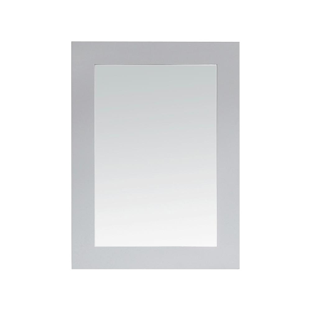 Home Decorators Collection Parkcrest 22 in. x 30 in. Single Framed Wall Mount Mirror in Dove Grey