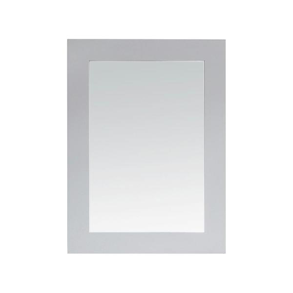 22.00 in. W x 30.00 in. H Framed Rectangular  Bathroom Vanity Mirror in Dove Grey