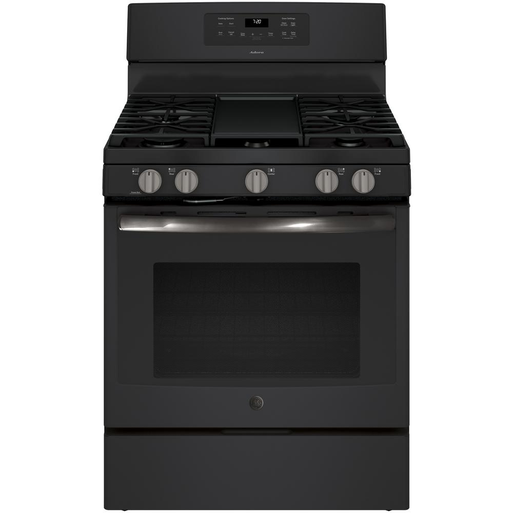 GE Adora 5.0 cu. ft. Slide-In Gas Range with Self-Cleanin...