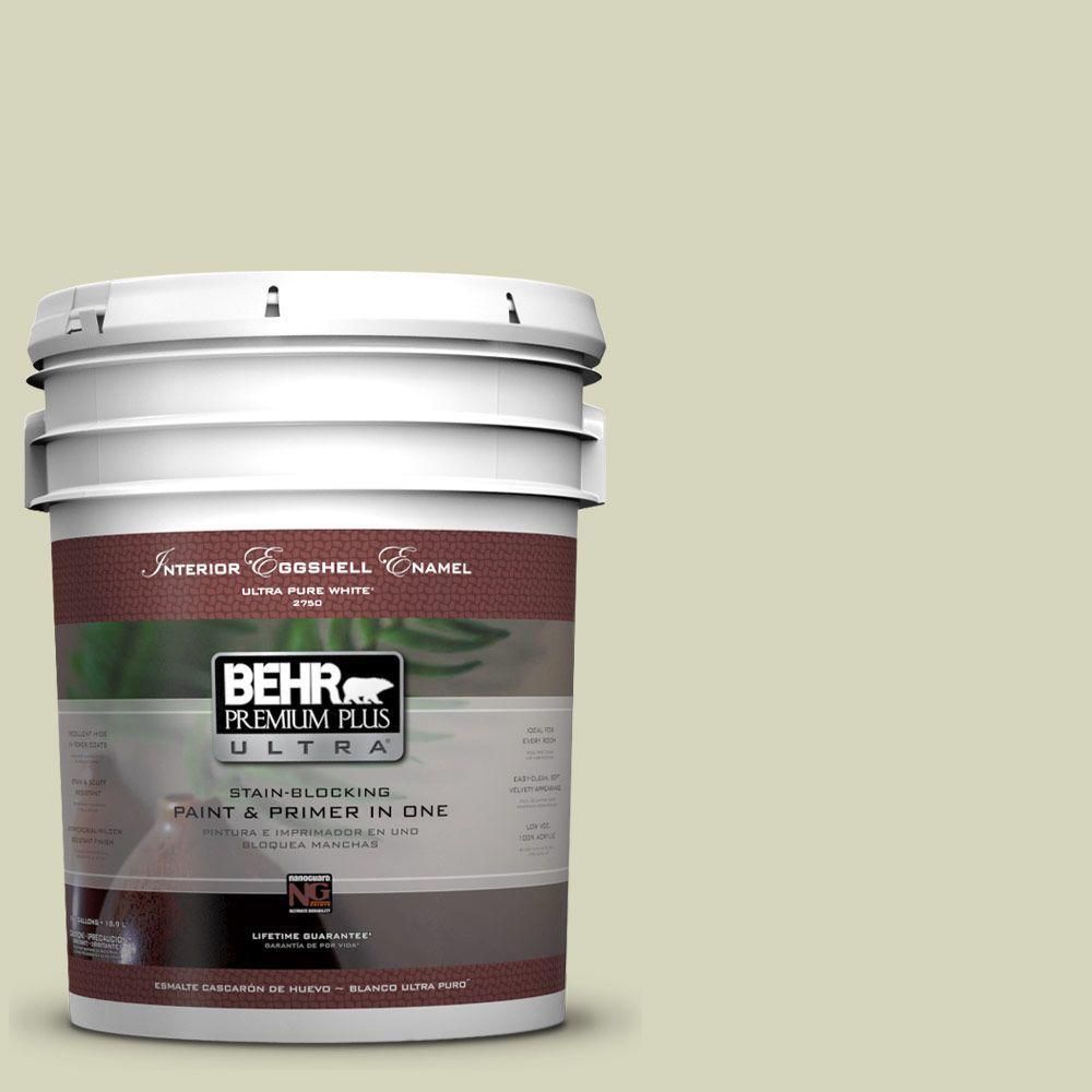 BEHR Premium Plus Ultra 5-gal. #PPU9-17 Pale Cucumber Eggshell Enamel Interior Paint