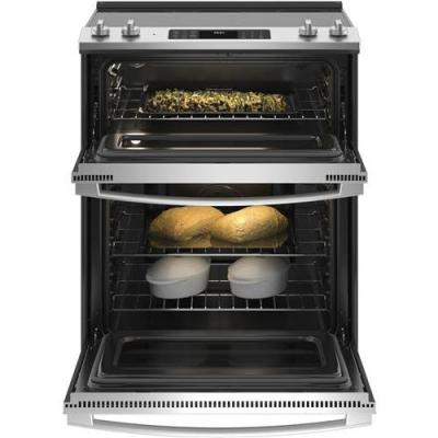 6.6 cu. ft. Slide-In Double Oven Electric Range with Steam Cleaning Oven in Stainless Steel