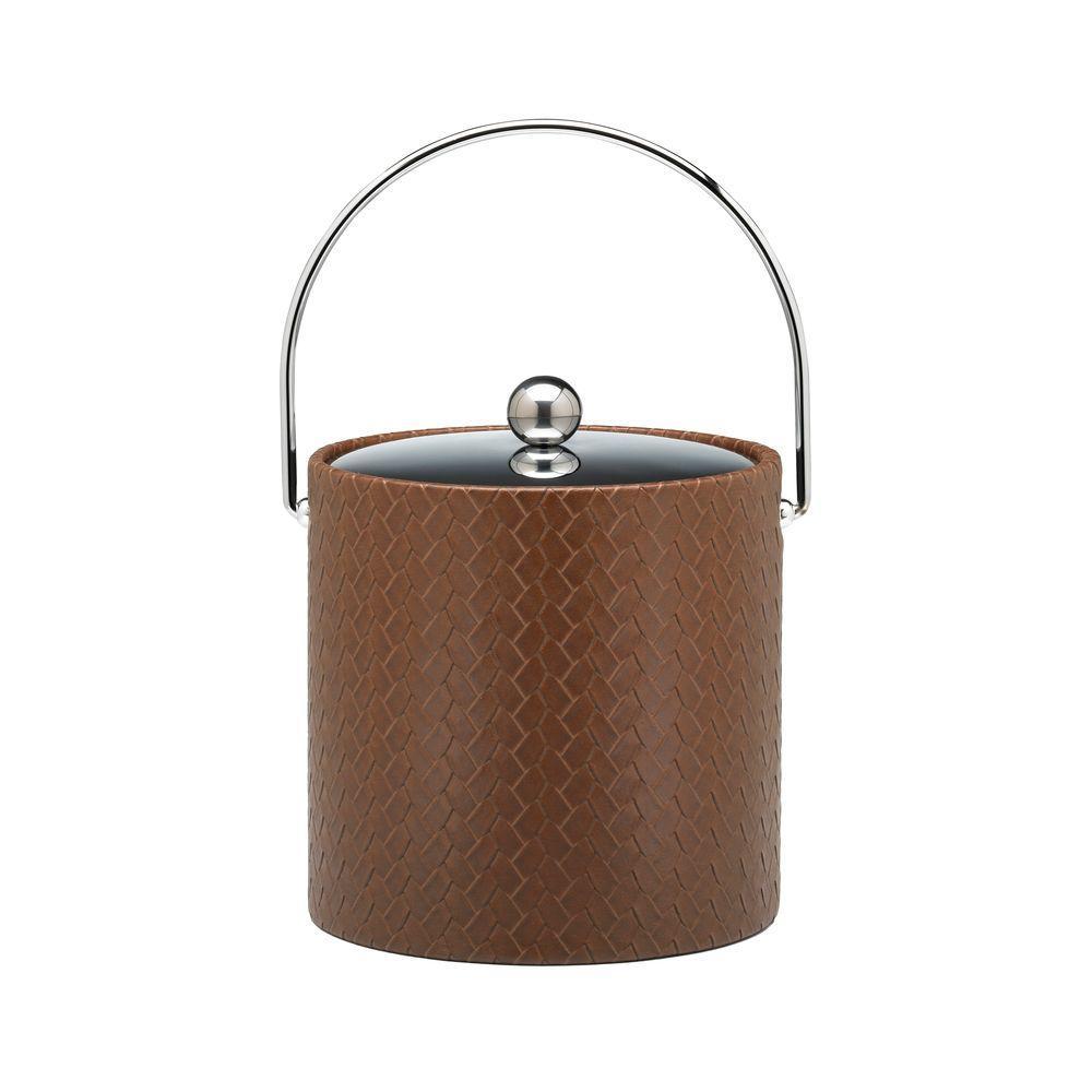 Kraftware San Remo Pinecone 3 Qt. Ice Bucket with Bale Handle, Metal Lid