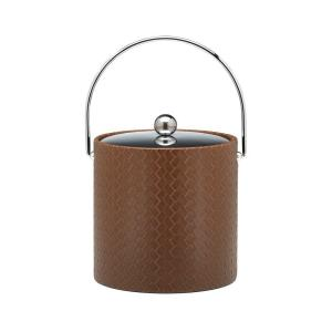 Click here to buy Kraftware San Remo Pinecone 3 Qt. Ice Bucket with Bale Handle, Metal Lid by Kraftware.