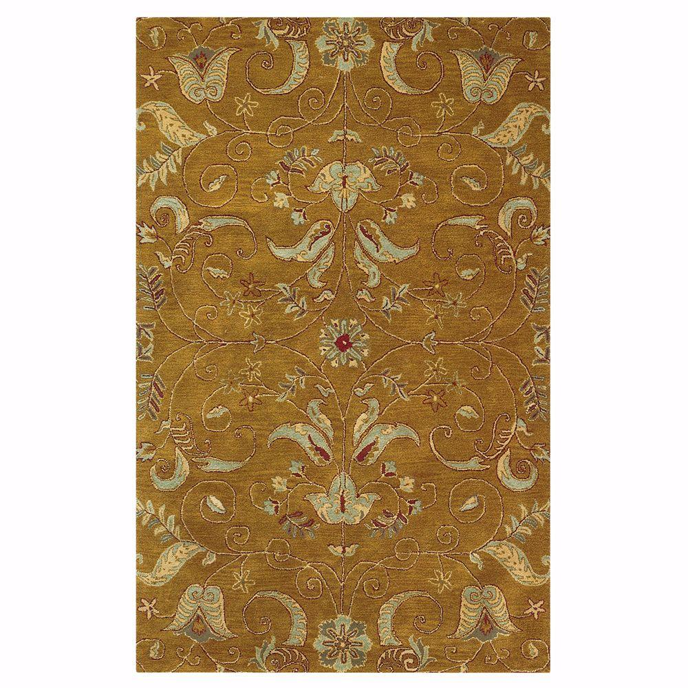 Home Decorators Collection Ansley Dark Gold 9 ft. 9 in. x 13 ft. 9 in. Area Rug