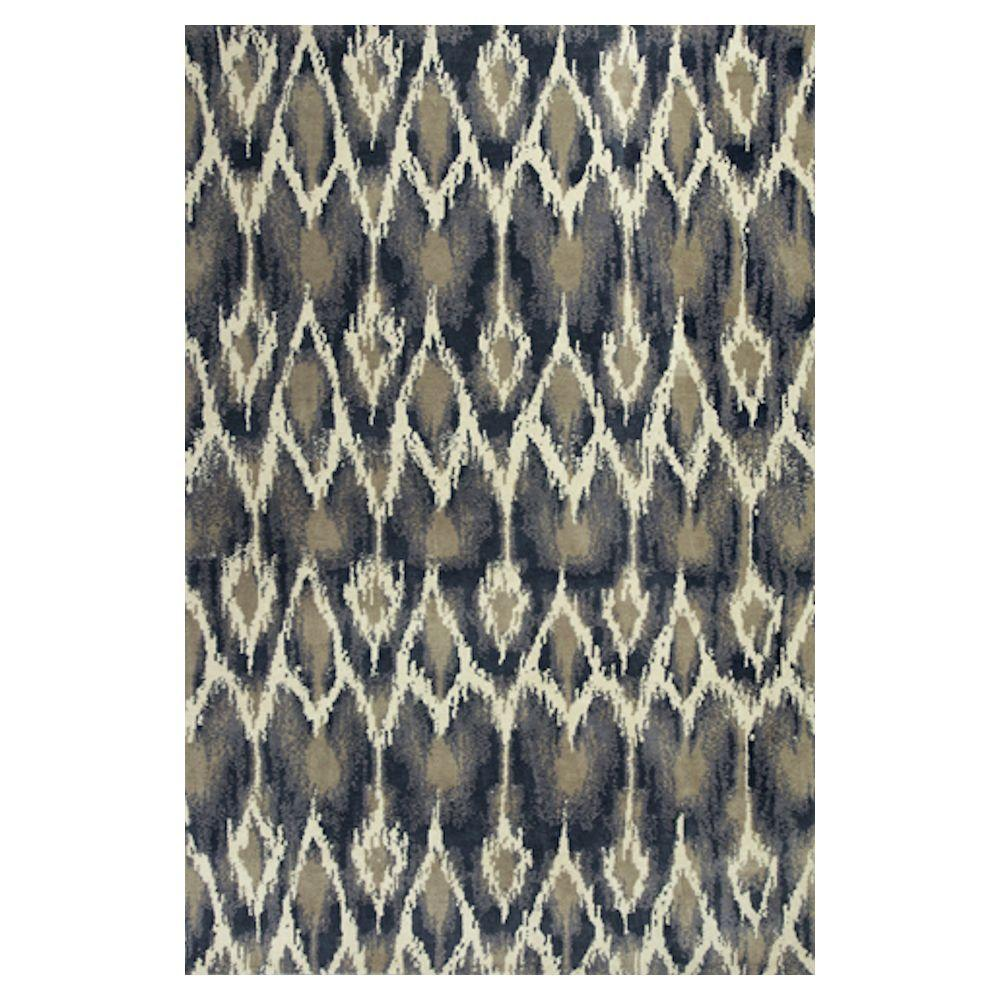 Kas Rugs Perfect Repeat Ivory/Grey 3 ft. 3 in. x 5 ft. 3 in. Area Rug
