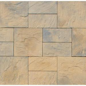 Nantucket Pavers Patio-on-a-Pallet 10 ft. x 10 ft. Concrete Tan Variegated Basketweave... by Nantucket Pavers