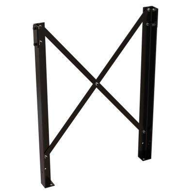 3.25 in. x 47.75 in. x 3.6562 in. Black Powder Coat Steel Leg Pair for Modular Work Platform