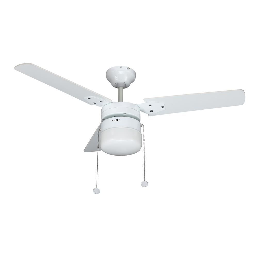 Montgomery 42 In Led Indoor White Ceiling Fan With Light Kit