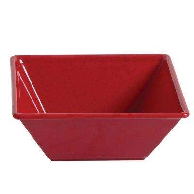 Jazz 23 oz., 6 in. x 6 in. Square Bowl, 2-1/8 in. Deep in Red (1-Piece)