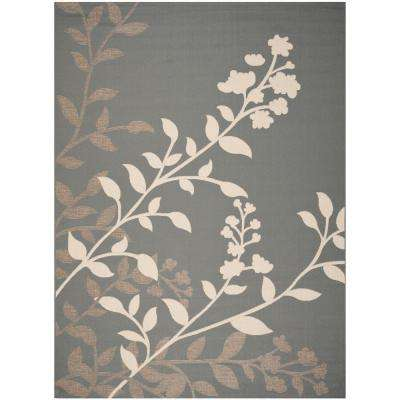 Courtyard Anthracite/Beige 8 ft. x 11 ft. Indoor/Outdoor Area Rug