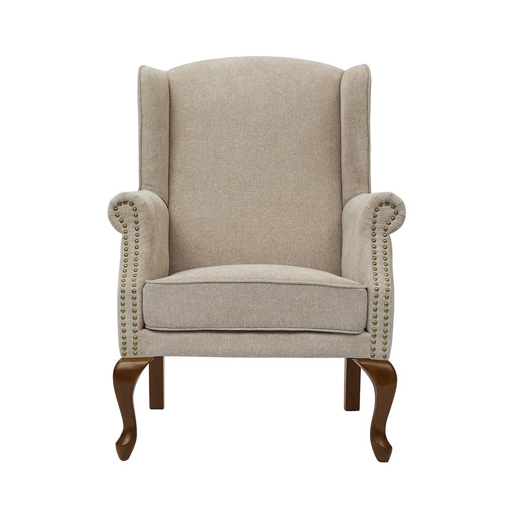 Lorell Oatmeal Wingback Arm Chair