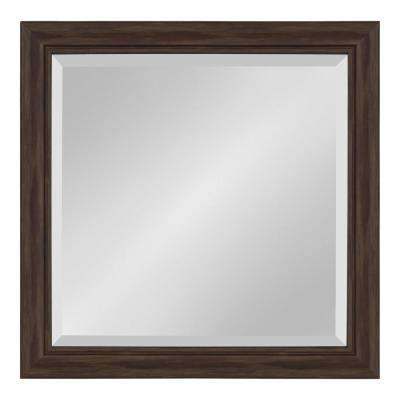 Dalat 24 in. x 24 in. Square Walnut Brown Wall Mirror