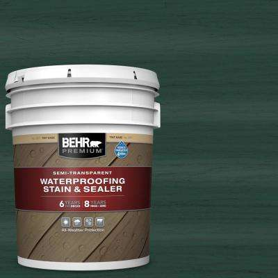 5 gal. #ST-114 Mountain Spruce Semi-Transparent Waterproofing Exterior Wood Stain and Sealer