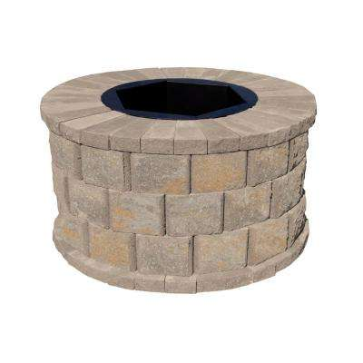 40 in. W x 22 in. H Rockwall Round Fire Pit Kit - Yukon