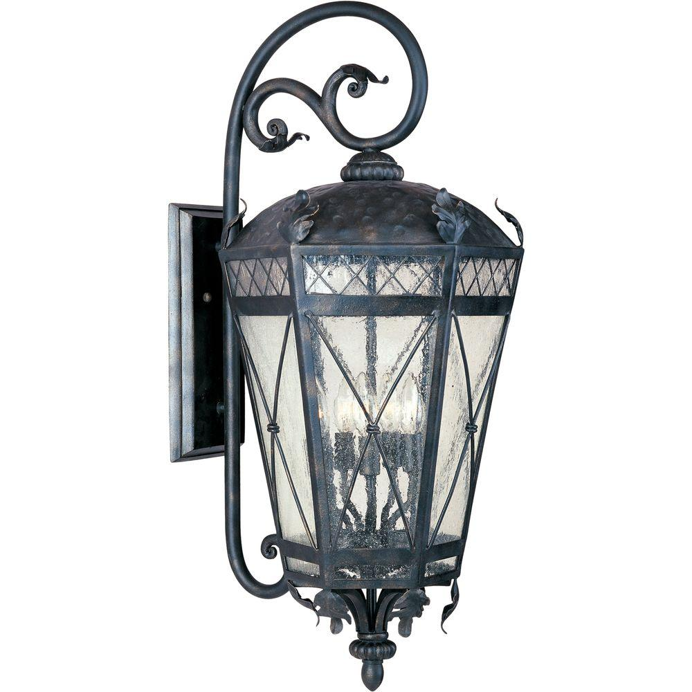 Canterbury 3-Light Artesian Bronze Outdoor Wall Mount