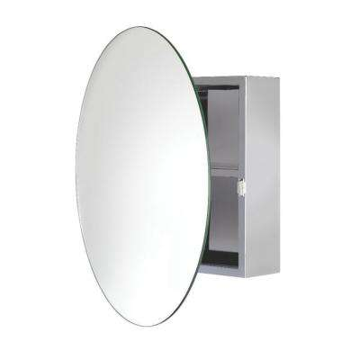 Severn 21-1/2 in. W x 21-1/2 in. H x 4-3/10 in. D Frameless Stainless Steel Surface-Mount Bathroom Medicine Cabinet