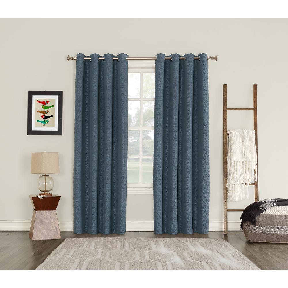 Trend Shake 40 Indigo Home Décor Ideas: Sun Zero Talin Indigo Lined Blackout Grommet Curtain