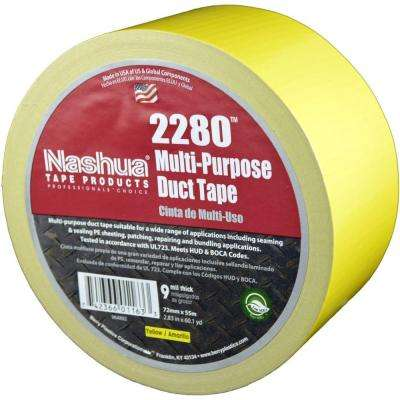 2.83 in. x 60.1 yds. 2280 Multi-Purpose Duct Tape in Yellow