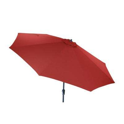 10 ft. Aluminum Market Patio Umbrella in CushionGuard Chili with Auto Tilt