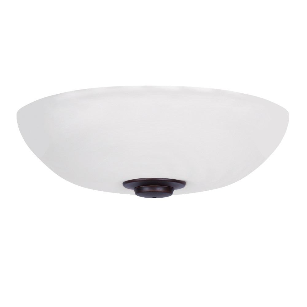 Harlow Opal Matte LED Array Venetian Bronze Ceiling Fan Light Kit