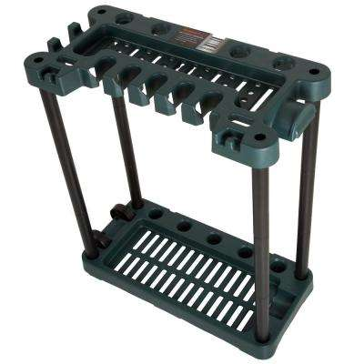 28 in. x 14 in. x 29.5 in. 2-Tier 40 Tool Rolling Garden Tool Storage Rack Tower