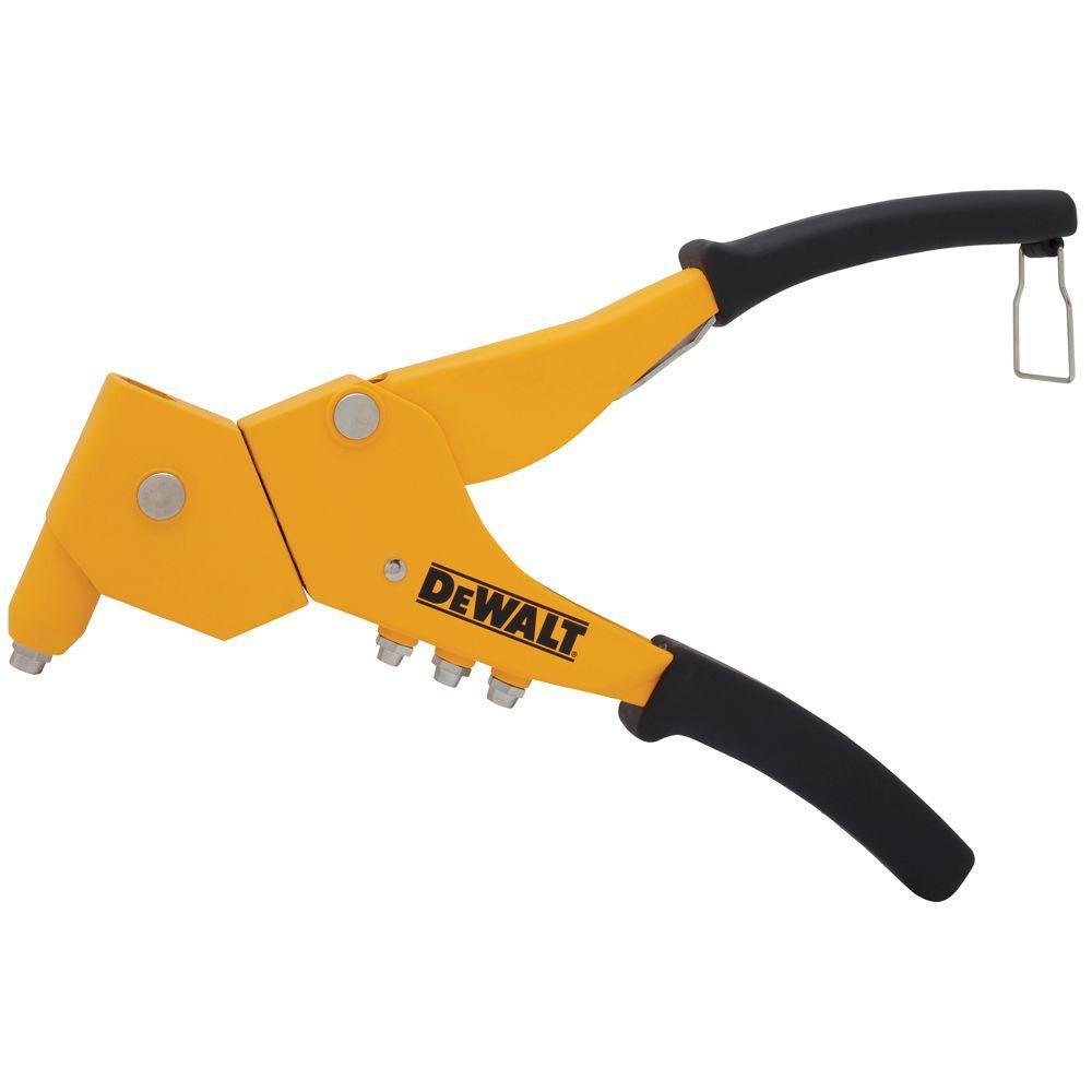 DEWALT 6 in Swivel Head Riveter Rivet Gun Setter Fastener Hand Tool Sheet Metal
