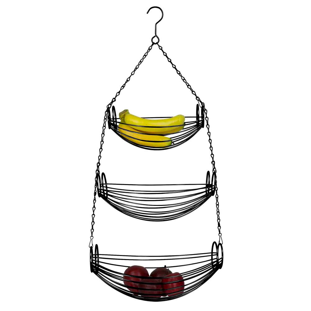 3-Tier Chrome Hanging Baskets