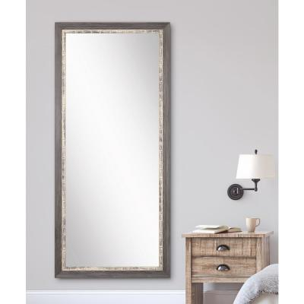 32 in. x 71 in. Weathered Harbor Floor Framed Mirror