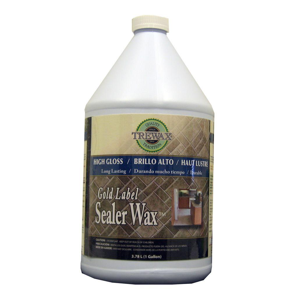 Trewax 1 Gal Gold Label Sealer Wax Gloss Finish Floor
