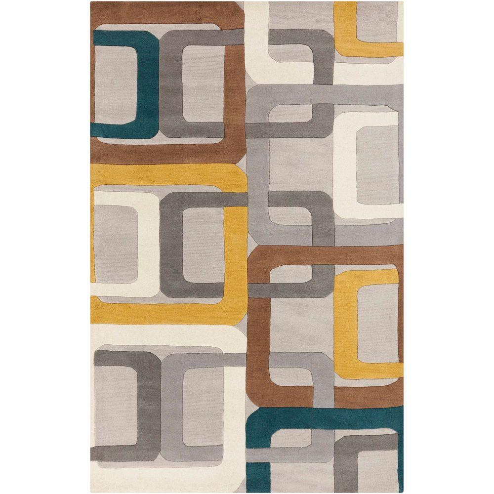 Artistic Weavers Michael Teal Blue 5 ft. x 8 ft. Area Rug