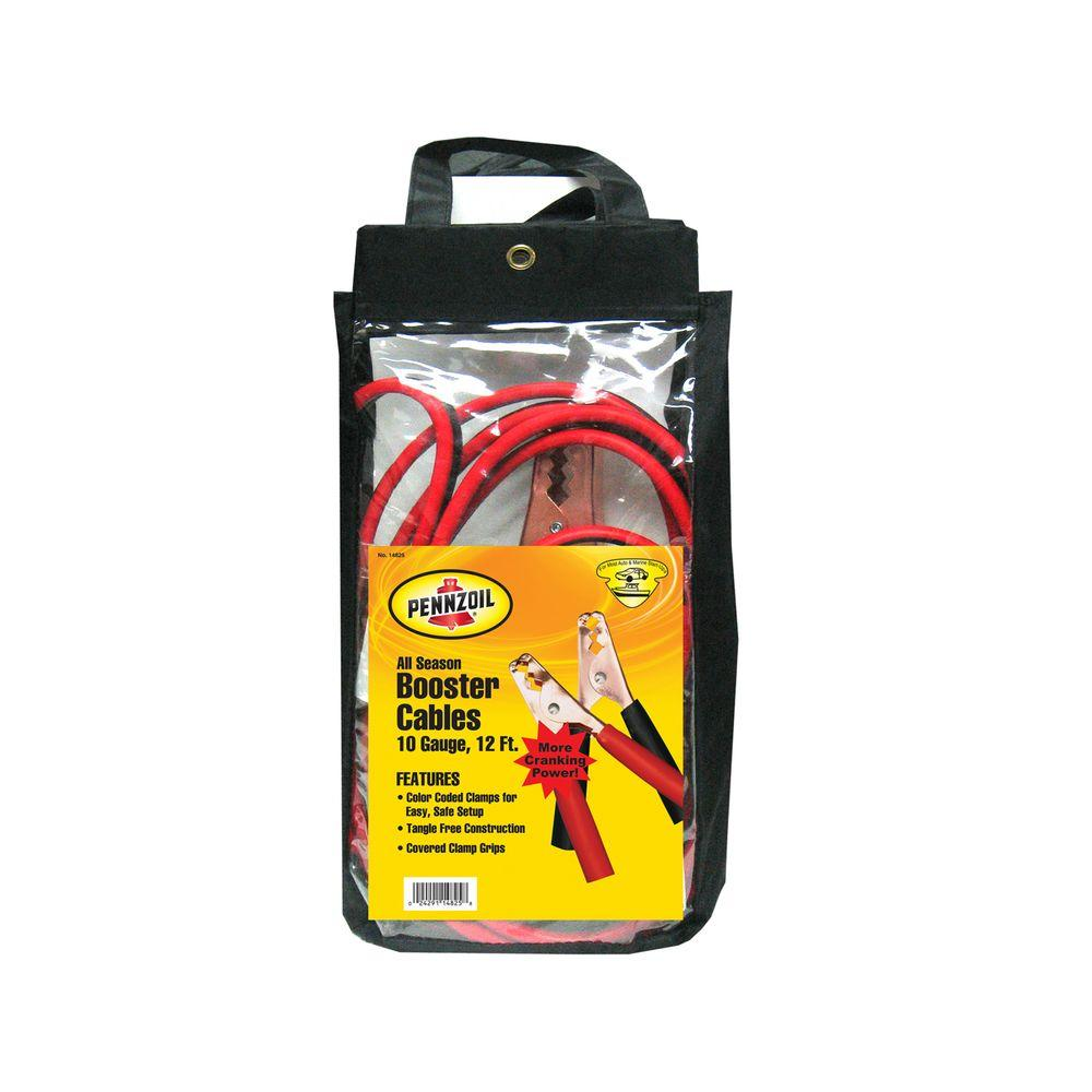Pennzoil 12 ft. 10-Gauge Booster Cable